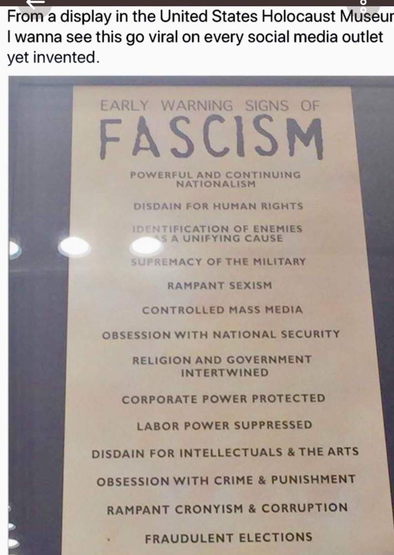 Fascism is here and now!